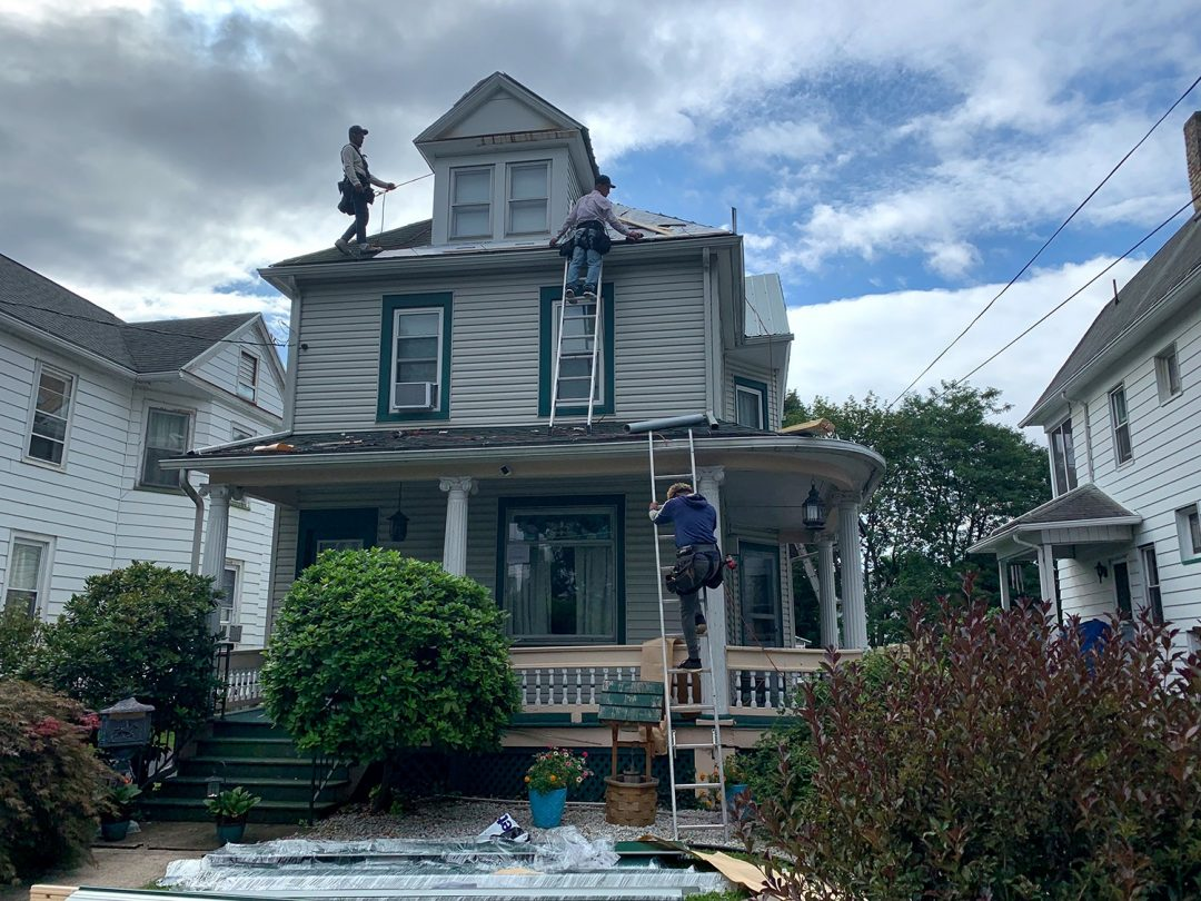 preparring a metal roof replacement