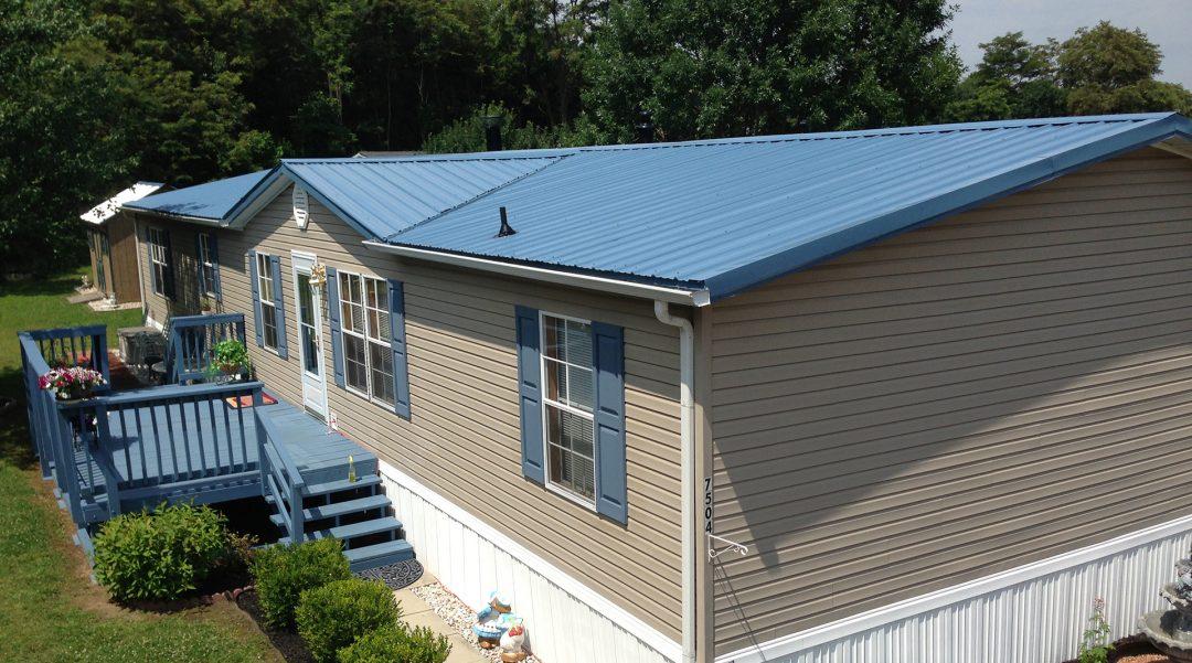Mobile home roof repair header