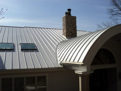 curved metal roof with skylight custom min
