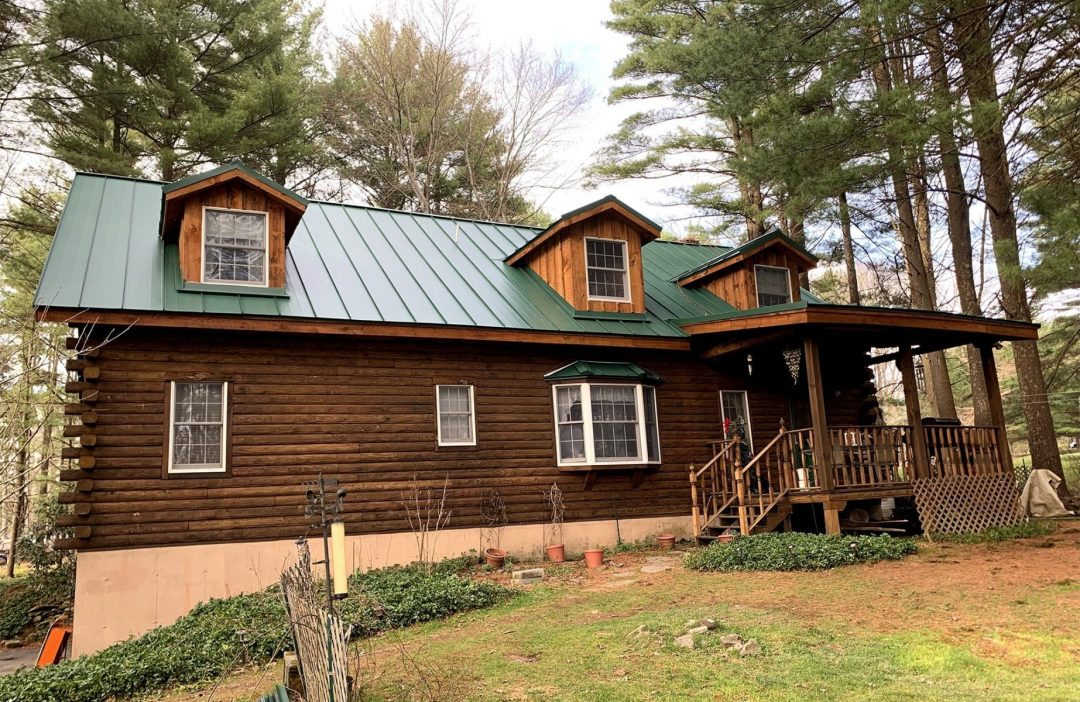 metal roof green standing seam min